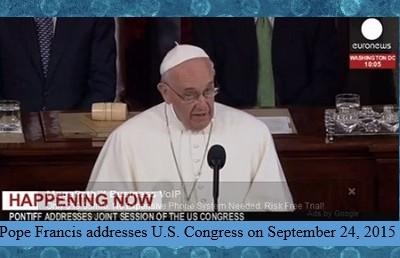 Pope Francis at U.S. Congress
