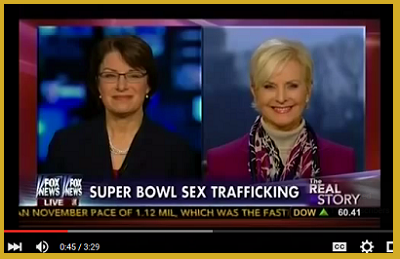 Joined in bipartisan effort to curb sex-trafficking