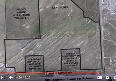 Land Conveyance_Future transfer of Horn Rapids landfill, & WIDS 600-393 (Source: Tri-Cities Hanford Site Land Transfer - YouTube https://www.youtube.com/watch?v=l-s2rUv_I9s, published February 1, 2016)