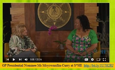 SHE Living TV & GP Presidential Nominee Ms Moyowasifza-Curry