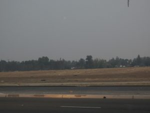 Dust and ash lingered for days adding to the pollution layer