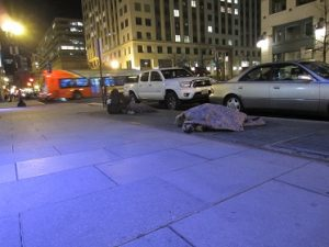 Freezing weather, and transients must sleep outdoors