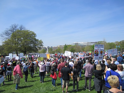 Marchers walked down Pennsylvania Avenue