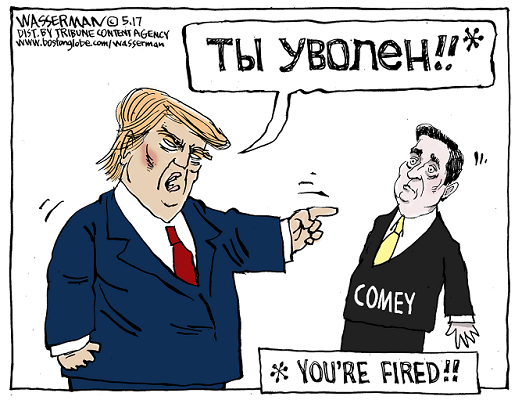 Apprentice starring James Comey and Donald Trump