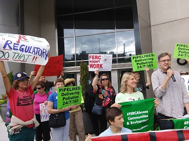 Rural landowners traveled to DC to attend FERC meeting
