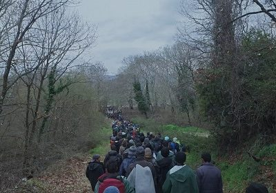 Refugees on road to Germany, Human Flow documentary
