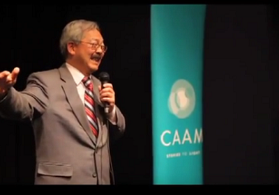 Mayor Ed Lee speaking at Remembering Vincent Chin 30