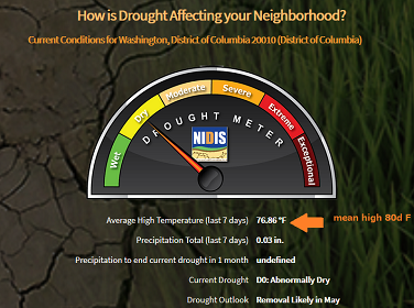 Screenshot from drought.gov