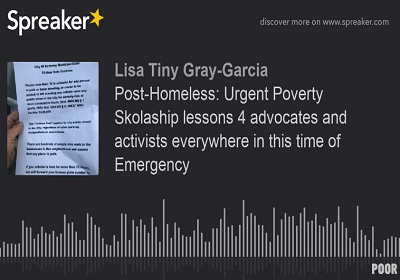 Tiny Gray-Garcia shares new poem