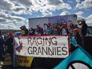 Raging Grannies write and sing their own songs