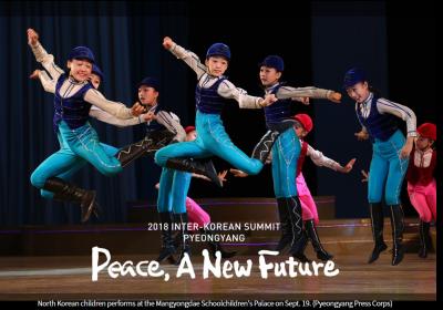 North Korean children perform at school children palace