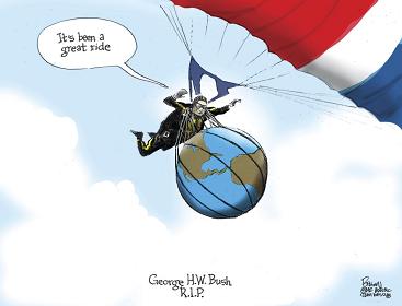US News President George Herbert Walker Bush, R.I.P.