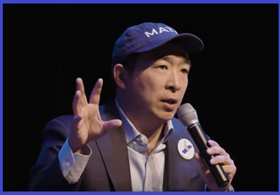 Yang at Iowa Town Hall