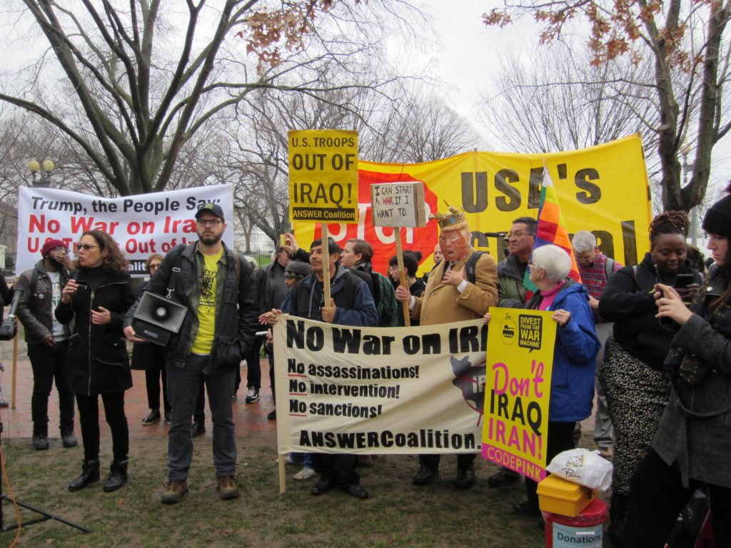 January 4, 2020 Rally in response to Iraq bombing