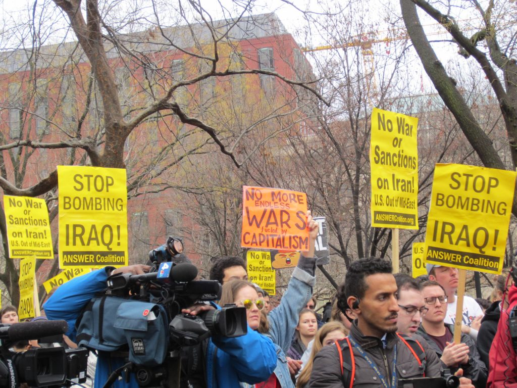 No War in Iran! Protests