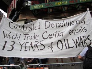 9-11 Banner, NYC March