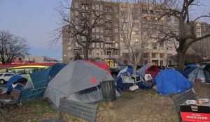 Homeless moved here and there in DC
