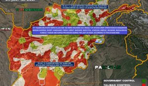 Government vs Taliban Afghanistan, Map, Southfront.org